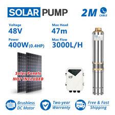 3 Dc Solar Well Pump 48v 400w Submersible Mppt Controller Deep Bore Water Pump