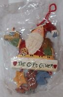 Midwest of Cannon Falls The Gift Giver Carved Santa Christmas Tree Ornament