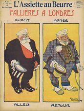 L'assiette au beurre 373 23/05/1908 Fallières à Londres Bernard Poulbot Delannoy