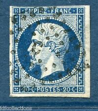 France Napoléon N°14A oblitéré Paris lettres batons bureau C