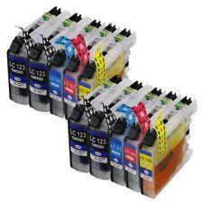 10 XL Druckerpatronen LC121 LC123 LC125 LC127 + Chip für den Brother MFC-J4410DW