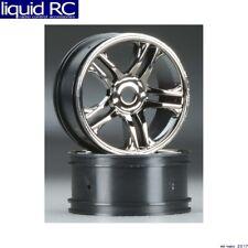 Traxxas 6478 Wheels Split-Spoke Black Chrome Front XO-1 (2)
