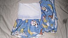 Kidsline Over the Moon Baby Crib Skirt Cow Cat Dog Stars Blue Nursery Rhymes