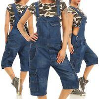 Jet Lag Damen Jeans Overall A Shorts Latzhose Einteiler Denim Pants Bermuda