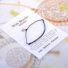 Silver Unisex Women Men Dreamer lettering String Card Bracelet Bangle Gift
