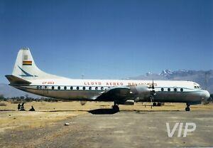 Aircraft Photo 5 x 7 CP-853 Lockheed L-188 Electra II Lloyd Aereo Boliviano, 60s