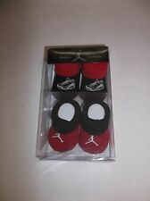 Jordan Jumpman Baby Booties 0-6 Months Set Of 2 Red And Black New In Box