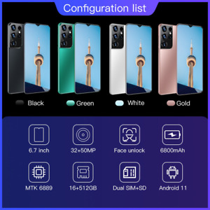 Global Version S21+Uitra 6.7Inch SmartPhone Galaxy 16+512GB Android 6800Mah Lith