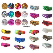 50 pcs Nail Art Wrap Foils Transfer Glitter Stickers Polish Decal Manicure OO5