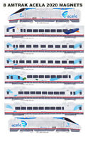 Amtrak Acela 8 magnets by Andy Fletcher