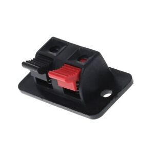Power Or Speaker Loudspeaker Spring Terminal Connector Block  Pack Of 2