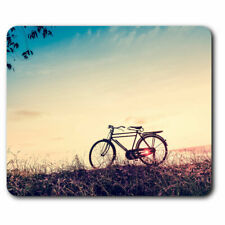 Computer Mouse Mat - Vintage Bicycle Bike Sunset Office Gift #2737