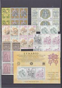 Vatikan Jahrgang 1982, komplette postfrische 4er Block Sammlung inkl. Block **