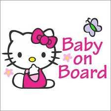 Baby on Board Hello Kitty Cute Window Car Van Suv Bumper Vinyl Sticker JDM WRX