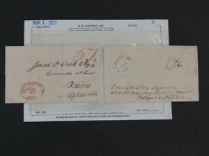 Nystamps E Old US 1813 stampless cover purchased in 1977 Rare