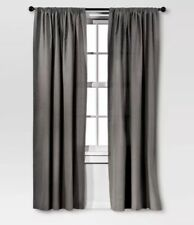"Threshold™ One Curtain Panel 54"" W x 84"" L Farrah Black (Dark Gray)"