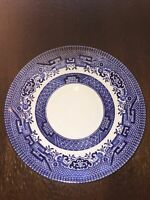 "Churchill Staffordshire England Blue Willow Saucer 5 1/2"" Diameter"
