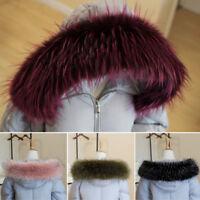 Women Faux Fur Collar For Coat Sweater Down Jacket Hood Winter Scarf Shawl Wrap