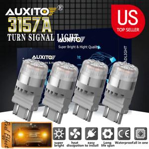 4x Amber/Yellow 3157 3156 High Power LED LED Turn Signal Light Bulbs 4057 4157