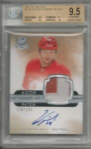 2011-12 The Cup Gustav Nyquist Rookie Card RC Patch #116 138/249 BGS 9.5 Auto 10