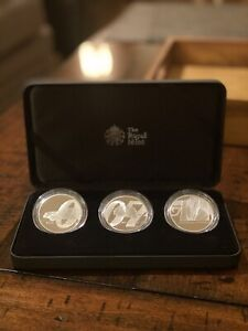 James Bond 2020 UK One Ounce Silver Proof – 3 Coin Series
