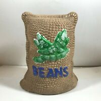 Vintage Mt Clemens Pottery Coffee Beans Bag Coin Bank