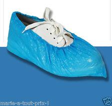 Lot de 10 couvre chaussures plastique élastique Surchaussures pour protections