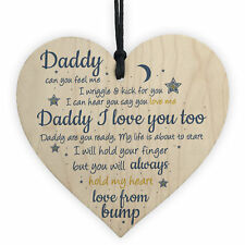 Handmade Heart From Bump Gifts for Men Daddy to Be Birthday Father Baby Son