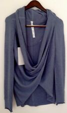 LULULEMON Iconic Wrap Sweater Boolux Heathered  Blue Denim 6 NWT Dove Blue Grey