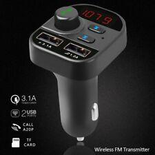 2 Usb Charger Fm Modulator Car Accessories Car Bluetooth 5.1 Wireless Fm
