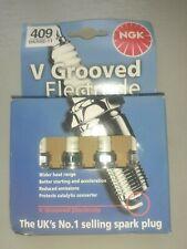 NGK BKR5E-11 Set of 4 V Grooved Electrode Spark Plugs, 409, MoZ7, Brand New