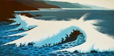 "Eyvind Earle ""The white Wave"" Hand signed numbered Serigraph 1994 US Artist"