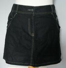 NEXT Womens Size 12 Womens Black Linen Mix Mini Boho Skirt