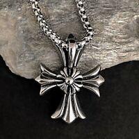 Edelstahl Ketten Herren Damen Männer Biker Ritter Anhänger Malteserkreuz Kreuz
