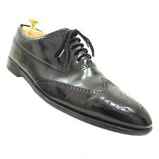 Mezlan Nicholas 10.5 B Men Brogue Wingtip Black Leather Oxford Dress Shoes Spain