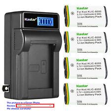 Kastar Battery LCD Wall Charger for Kodak KLIC8000 KODAK Pocket Video Camera ZXD