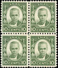 Canada Mint H F+ Block of 4 10c Scott #190 1931 Cartier Issue Stamp