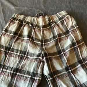 Joe Boxer Gray plaid flannel pajama pants men's XL READ DESCRIPTION