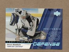 nikolai khabibulin lightning 2002/03 upper deck ll12 last line of defense