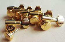 Lock Wilkinson 6R Gold  Guitar Locking Tuners JN-07 SP Fits Fende Strat Tele,