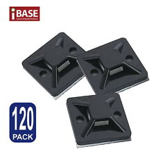 Wire Cable Zip Tie Holder Self Adhesive Mounting Base Clamp Clip Retardant Black