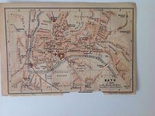 Bath, Gran Bretaña, 1901 antiguo mapa, Wagner & debes, Atlas
