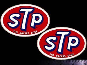 STP Racers Edge - Set of 2 Original Vintage Racing Decals/Stickers Richard Petty