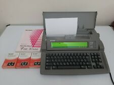 More details for sharp fw 550 font writer word processor electronic typewriter + manual + ribbons