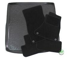 AUDI A4 B8  ESTATE 2008-2015 Tailored black floor car mats + boot tray mat
