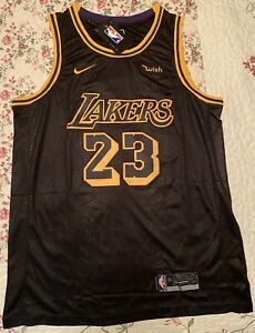 Los Angeles Lakers LeBron James Black Mamba Jersey #23 Men's Size Large NWT