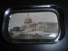 Antique Washington DC Capitol Building Glass Paperweight
