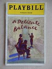 May 1996 - Plymouth Theatre Playbill w/Ticket - A Delicate Balance - John Carter