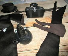 Plague Doctor COSTUME OUTFIT / For Monster High dolls bird beak bag gown hat rip