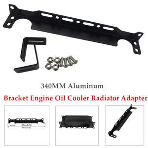 340MM Aluminum Alloy Mounting Bracket Engine Oil Cooler Radiator Adapter Black